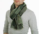 10374-10, павлопосадский шарф (кашне) вовняної (розріджена шерсть) з осыпкой, фото 3