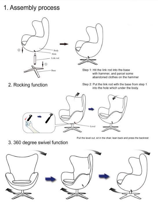 Кресло Эгг (Egg) инструкция
