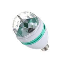 Разноцветная вращающаяся LED лампа 3 W под обычный цоколь