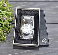 """Зажигалка """"Часы с подсветкой"""" в подарочной коробочке серебристые, фото 1"""