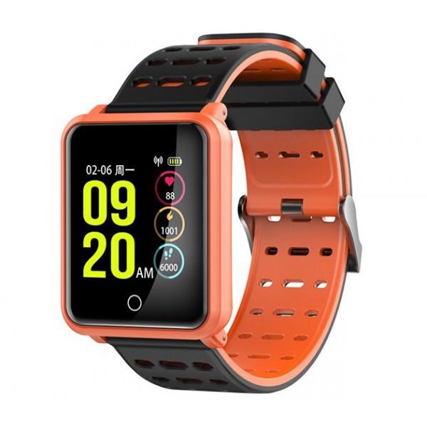 Умный фитнес браслет Smart Band N88 Оранжевый (фитнес трекер, тонометр, пульсометр)