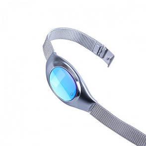 Умный фитнес браслет Smart Band Z18 Original Серебро (фитнес трекер, пульсометр, тонометр ), фото 2