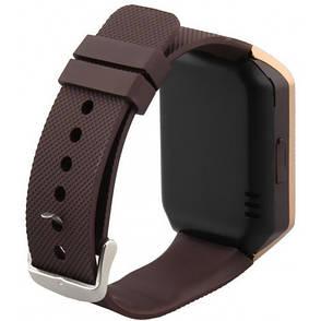 Умные Смарт Часы Uwatch Phone Dz09 Золото-Коричневый, фото 2