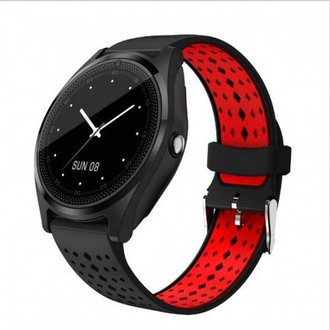 Умные Смарт Часы Uwatch V9 Black-Red, фото 2