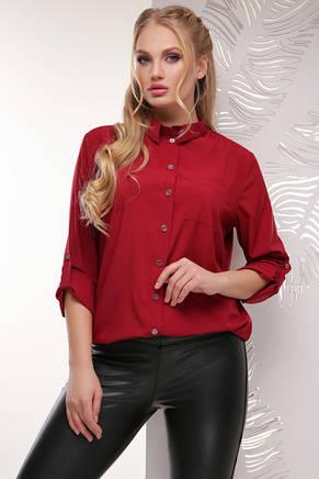 Жіноча повсякденна однотонна блуза, фото 2