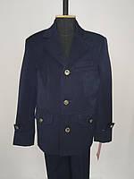 Костюм  синий для мальчика тройка (пиджак, брюки, жилет) / костюм синій для хлопчика трійка