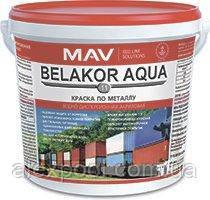 Краска MAV BELAKOR AQUA 11 по металлу водно-дисперсионная акриловая Белая RAL 9016 5 литров