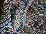 Узор дождя 1695-10, павлопосадский платок шерстяной (двуниточная шерсть) с шелковой бахромой, фото 6