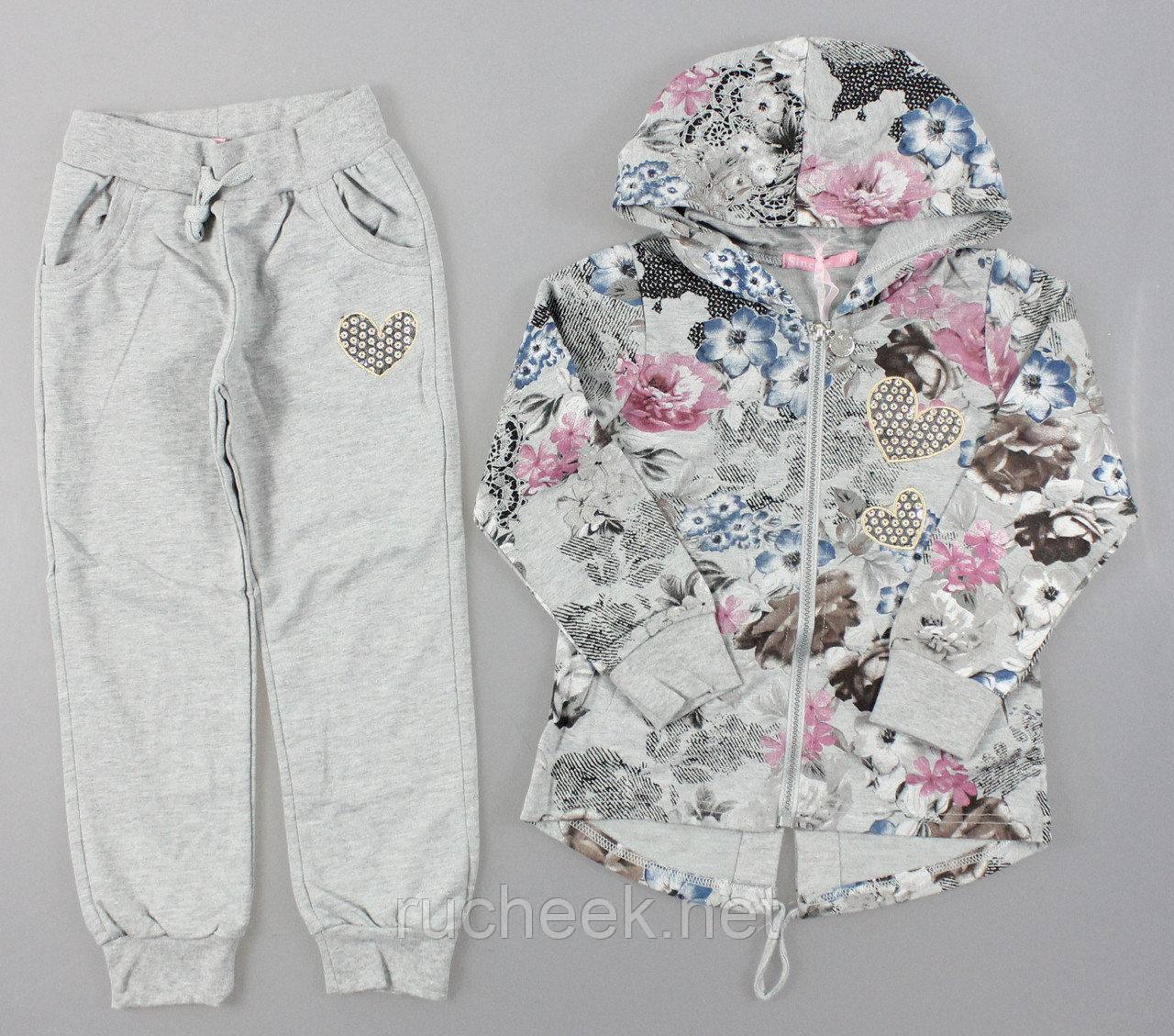 Костюм двойка для девочки  кофта и штаны рост 116, Sincere 1798