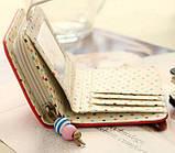 Кошелек женский розовый горошек код 130, фото 5