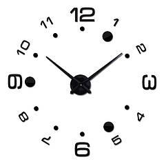 """Часы настенные зеркальные черные диаметр от 80см до 1метр 20см """"цифры по арабские с кругами 3D часы большие"""""""