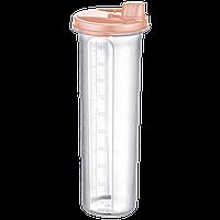 Бутылка для масла / уксуса 1,25 л оранжевая прозрачная Irak Plastik