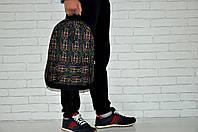 Рюкзак городской модный качественный Asos с принтом Точки, цвет черный