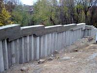 Устройство подпорной стенки из буронабивных свай