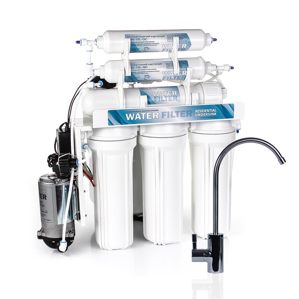Фильтр для воды осмос с помпой WATER FILTER Standard WFRO-6L-50 Pump