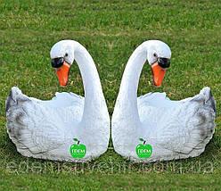 Садовая фигура подставка для цветов кашпо Лебедь средний правый и Лебедь средний левый, фото 2