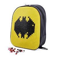 Школьный рюкзак конструктор с пикселями Бэтмен