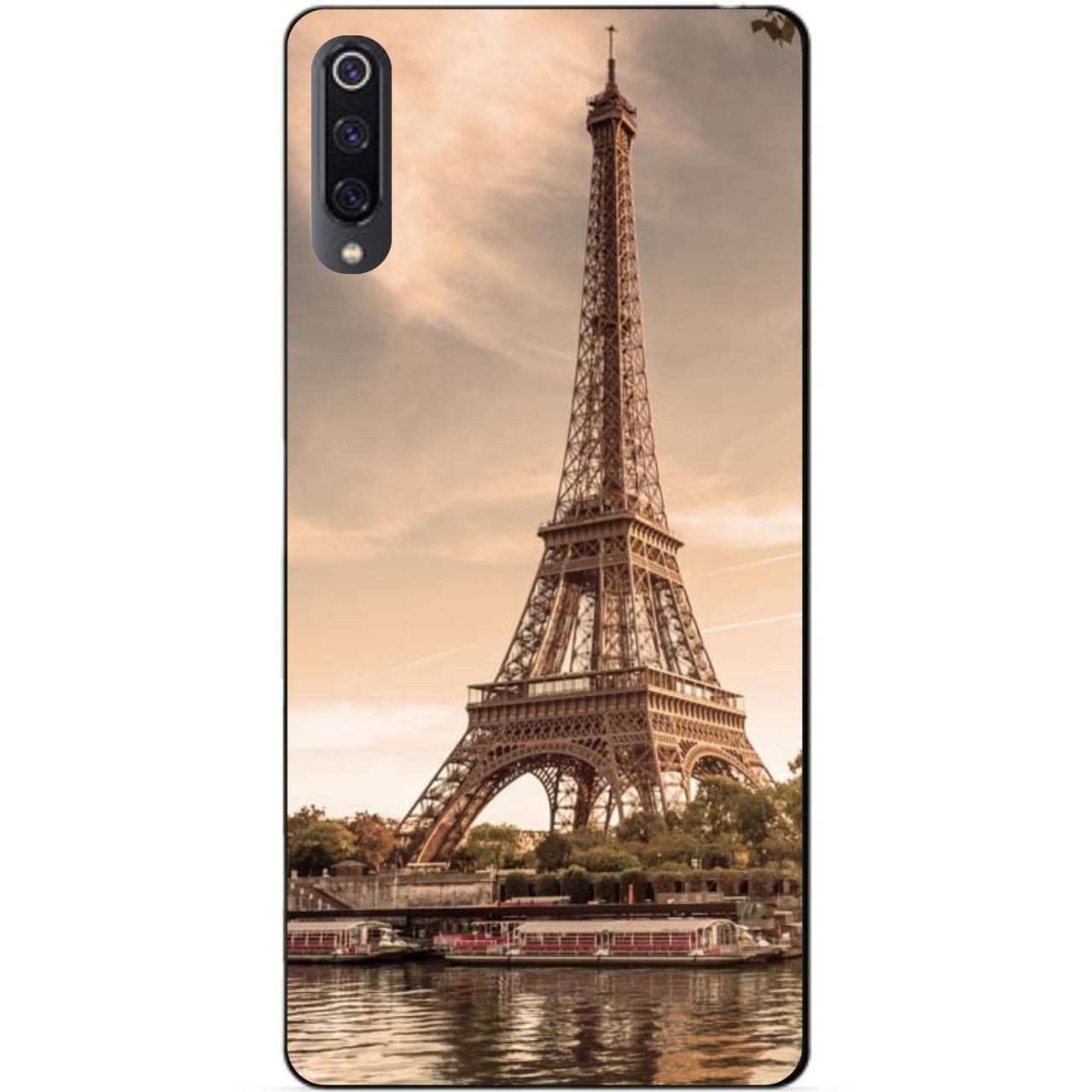 Чехол силиконовый для Xiaomi Mi 9 с рисунком Париж