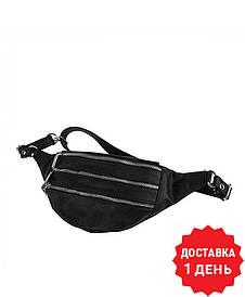 Женская кожаная сумка на пояс (бананка) Polscy SZ002