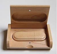 Деревянная флешка в коробке подарок 16 гб