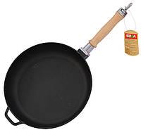 Сковорода чугунная 20 см * 4,5 см сьемная ручка Биол 0120, фото 1