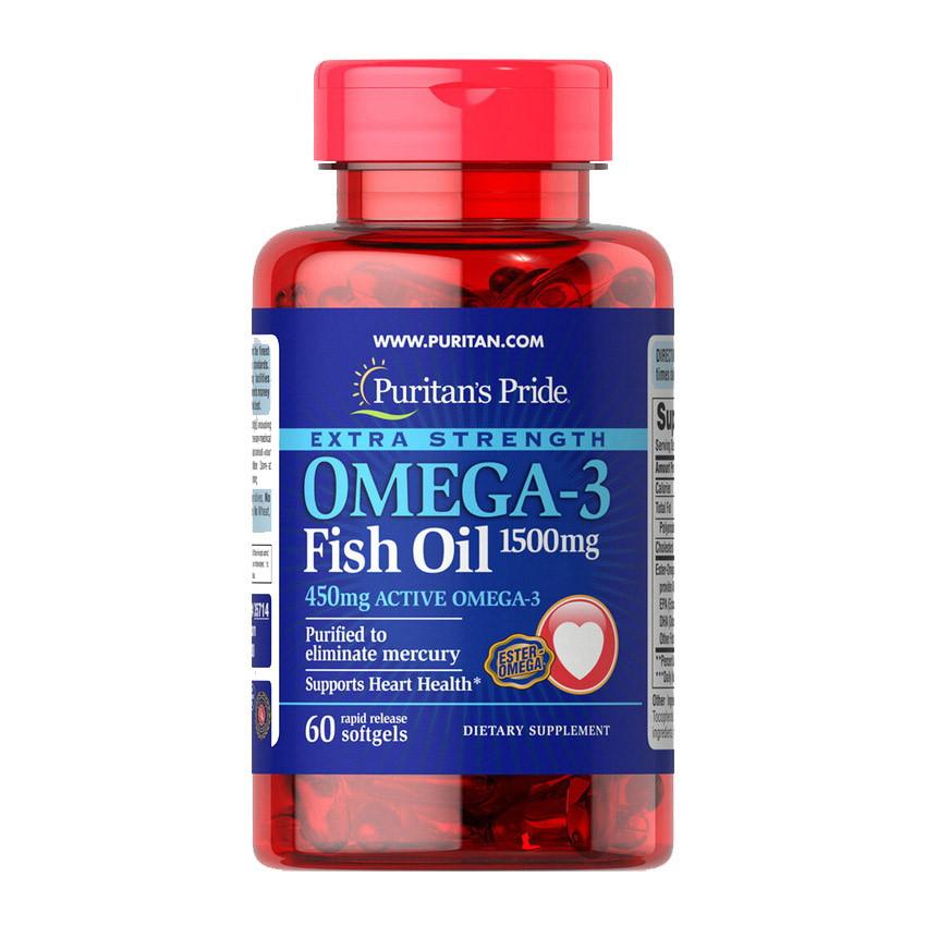 Omega-3 Fish Oil 1500 mg (60 softgels) жирные кислоты Puritan's Pride