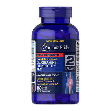 Triple Strength Glucosamine & Chondroitin with MSM (180 caplets) Puritan's Pride