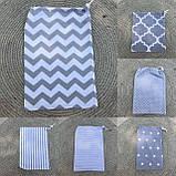 Эко мешок для вещей и продуктов, екоторбинка, хлопковый мешочек многоразовый для хранения 20*30 и 25*35см, фото 5