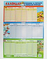 """Навчальний плакат """"Календар спостережень за природою"""" (на укр.яз.)"""