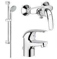 Набор смесителей для ванной Grohe EuroEco 123232S, фото 1