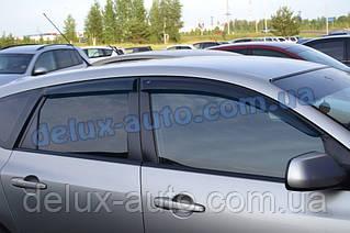 Ветровики Cobra Tuning на авто Mazda 3 I Hb 2003-2008 Дефлекторы окон Кобра для Мазда 3 хэтчбек 2003-2008