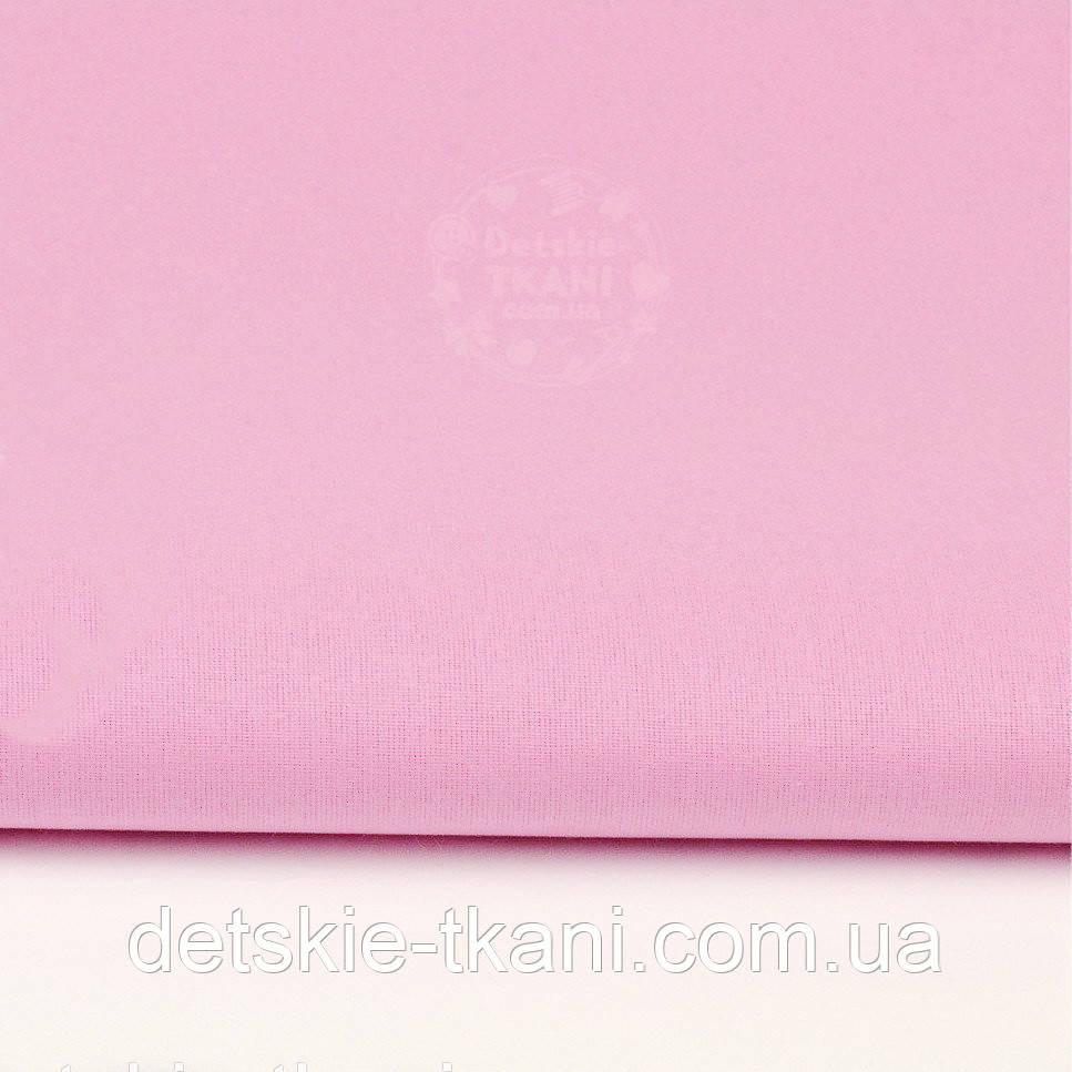 Однотонная польская бязь тёмно-розовая (№29).