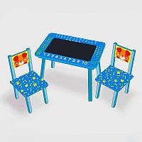 """Комплект столик + 2 стульчика """"Собачка"""" (с меловой поверхностью)"""