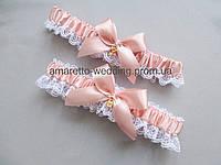Свадебная подвязка для невесты (комплект, 2шт)