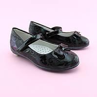 Туфли лаковые с бантиком для девочки  тм BI&KI размер 27,28,29,30,31,32