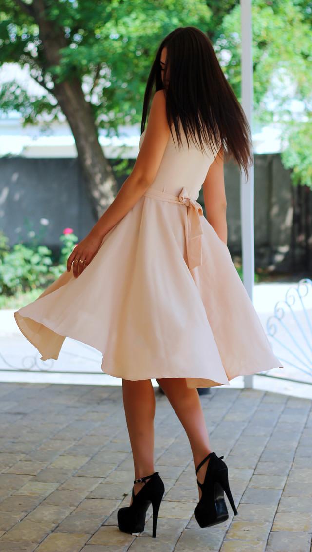 Женское платье солнце клеш