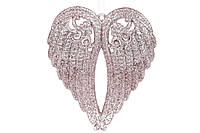 Ёлочная украшение  Крылья ангела, цвет: розовый 15см (45 шт)