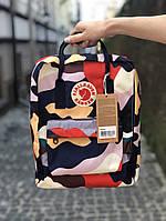 Рюкзак Fjallraven Kanken Classic (camo), рюкзак Канкен, камуфляжный портфель канкен