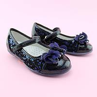 Туфли синие для девочки в школу тм BI&KI размер 27,28,29,30,31