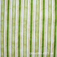 52006 Ткани в полоску. Зеленый потертый. Подойдет для пэчворка, скрапбукинга и декора. , фото 2