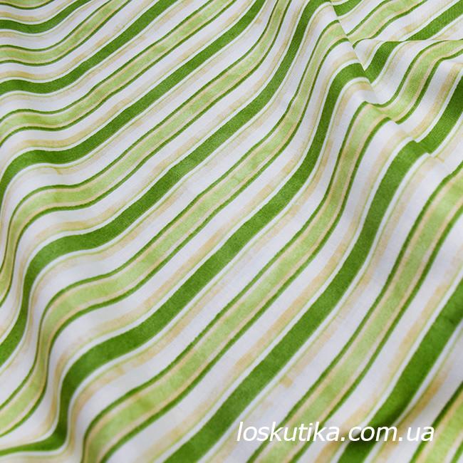 52006 Ткани в полоску. Зеленый потертый. Подойдет для пэчворка, скрапбукинга и декора.