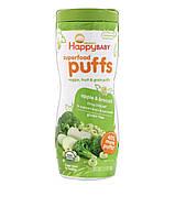 Органические колечки из злаков HappyBaby Superfood Puffs, яблоко и брокколи