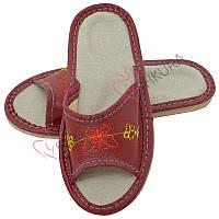 Кожаные тапочки для детей 05