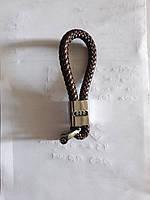 Брелок с логотипом AUDI, плетеный брелок с логотипом + карабин/коричневый