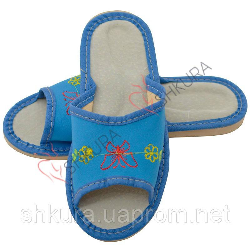 Кожаные тапочки для детей 09