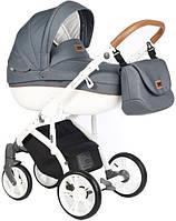 Дитяча коляска 2 в 1 Roan BASS Soft Denim Blue Dots