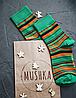 Носки с принтом женские Mushka Deep Green (DEE001) 36-39 Зеленый, фото 3