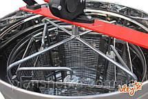Медогонка из нержавейки с поворотом кассет 4-х рамочная под «Рутовскую» рамку, фото 2