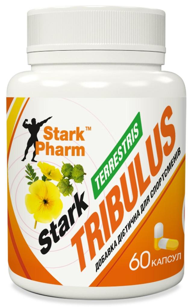 Трибулус Stark Pharm - Superstrong Extract Complex Tribulus Terrestris 500 мг (60 капсул) бустер тестостерона