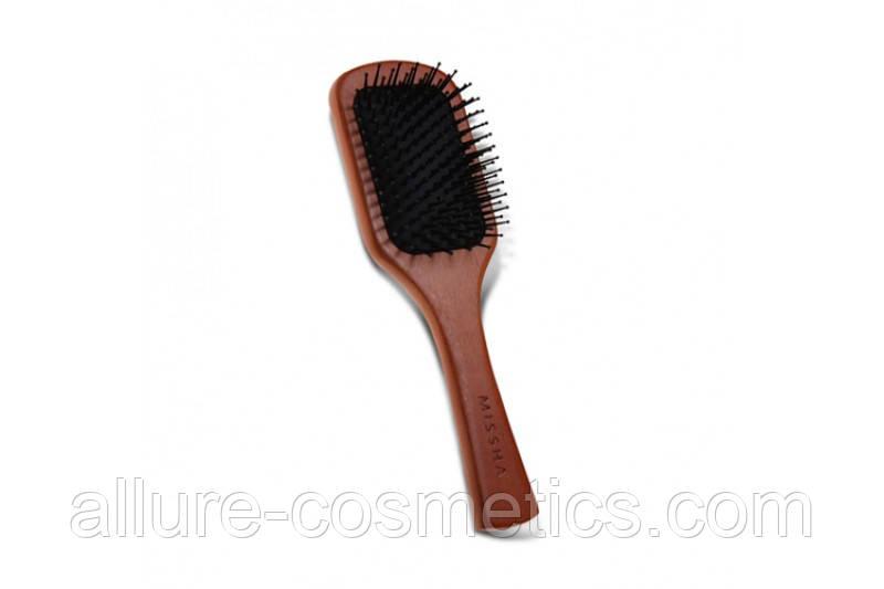 MISSHA Расческа с антистатическим эффектом Wooden Cushion Hair Brush Anti Static